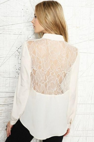 Ivory Lace Blouse by Urban Outfitters