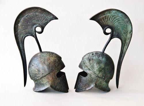 Ancient Greek Helmet, Bronze Crest Helmet, Ancient Athenian Military Helmet, Bronze Metal Sculpture, Collectible Art, Museum Quality Art