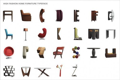 Modern furniture alphabet by The Butler Bros