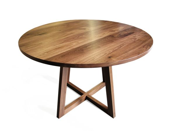 FInn solid white oak round pedestal dining table