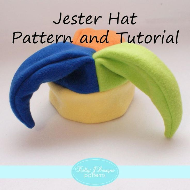 Jester Hat Pattern and Tutorial for infants through adults