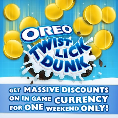 Get in on the great OREO coin sale this weekend only! http://pikpok.com/oreo