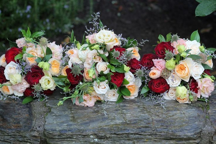 David Austin peach roses, reds and greens http://www.wanakaweddingflowers.co.nz/gallery/bouquets/
