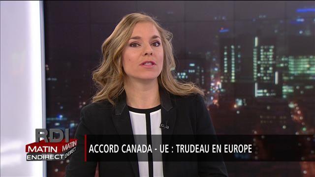 Le premier ministre Justin Trudeau a livré un autre vibrant plaidoyer en faveur de l'accord de libre-échange entre le Canada et l'Union européenne devant les députés du Parlement européen à Strasbourg.