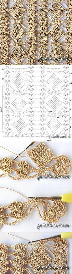 patrón de crochet muy bonito. El esquema de clase magistral