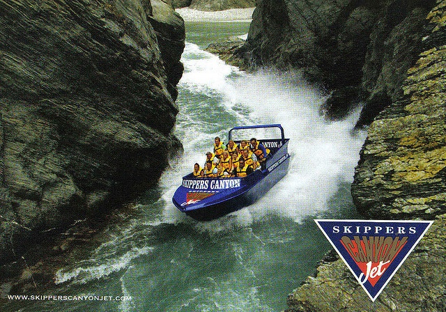 Jet Boats - Skippers Canyon, NZ. These guys are crazy, but its fun.