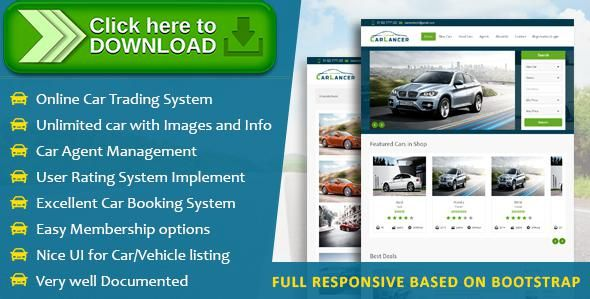 [ThemeForest]Free nulled download CarLancer - Online Car Trading System from http://zippyfile.download/f.php?id=40036 Tags: ecommerce, auto dealer, auto trade script, car dealer, car listing, car marketplace, car rental, car script, car selling, car trader, dealership, responsive, vehicles