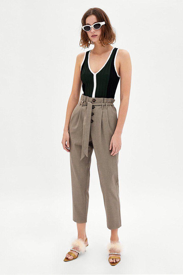 Pantalones paper bag, una tendencia en alza | Primavera