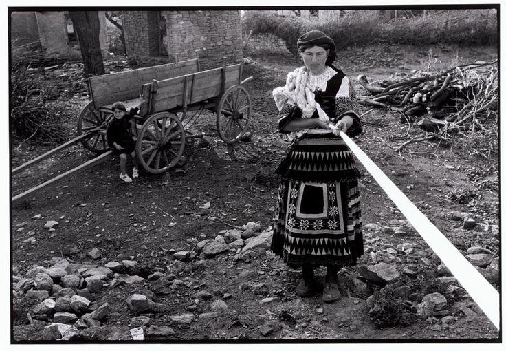 "Constantine Manos. Greece. Thrace. 1964. Sarakatsani woman skeining yarn. ""A Greek Portfolio"" p.96. © Costa Manos/Magnum Photos"