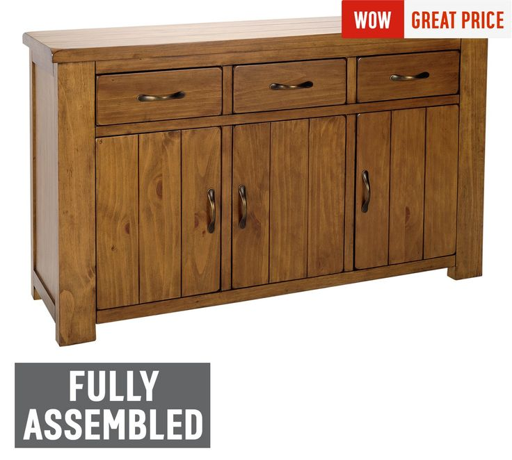 Arizona 3 Door 3 Drawer Solid Pine Sideboard