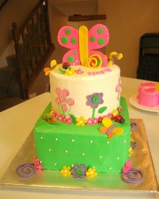 Butterfly Birthday Tier Cake