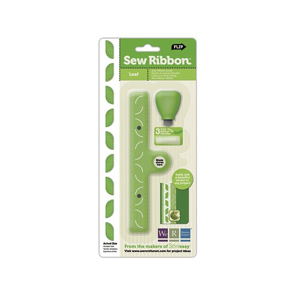 We R Memory Keepers - Sew Ribbon - Tool and Stencil - Leaf at Scrapbook.com $14.99