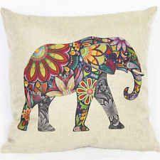 Vintage Elephant Sofa Throw Pillow Case Cotton Linen Car Bed Home Cushion Cover