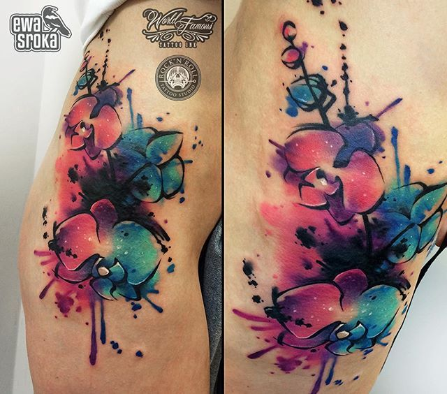 Best 25 Color Tattoos Ideas On Pinterest: 25+ Best Ideas About Watercolor Orchid Tattoo On Pinterest