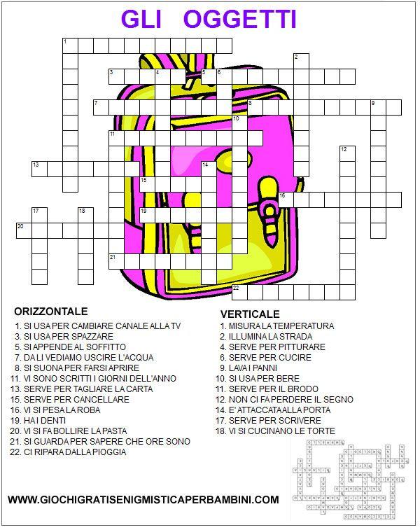Oltre 25 fantastiche idee su cruciverba su pinterest for Cruciverba per bambini di 8 anni