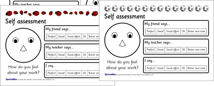 how to write a self assessment for english class