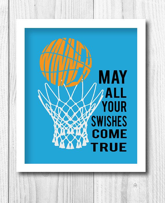 Personalized Sport Print Kids Decor Basketball Print  by Woofworld, $18.00