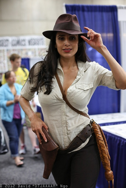 Indiana Joan  #SDCC2012  #CosplayDoneRight #Cosplay   by DTJAAAAM, via Flickr