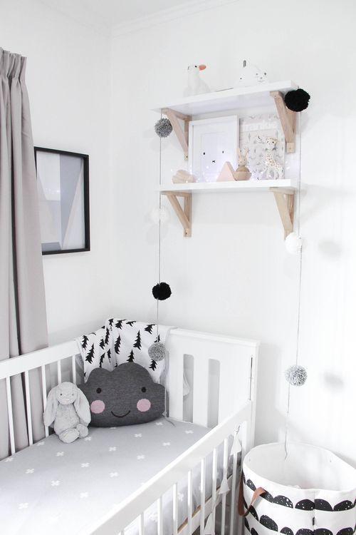 déco chambre bébé enfant noir et blanc, scandinave épuré graphique: