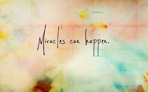 Miracles can happen. Font it.