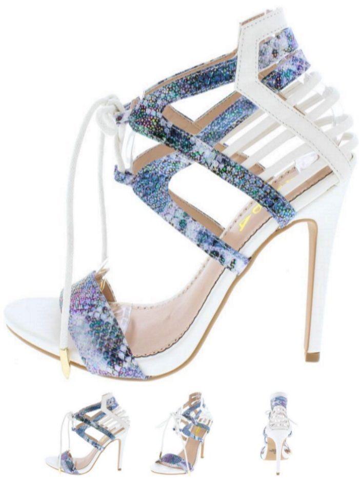 7a458f68134e NEW Trendy Colorful Holographic Strappy High Heels Stilettos Platform Pump  H136  Alba  Stilettosheels  ClubwearCasual