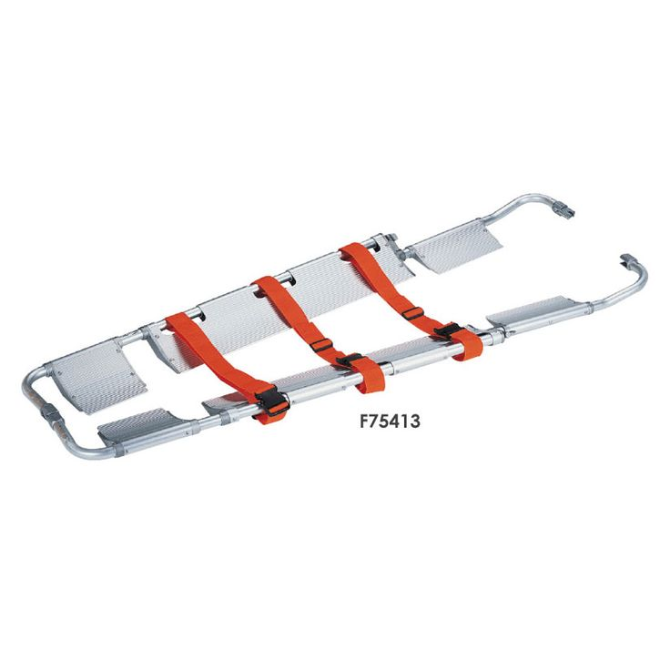 Orthopaedic Scoop Stretcher: Used in tight spaces or for direct ground lift for patient who has no suspected spinal injury.