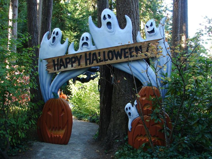 halloween outside decor - Halloween Garden Decor