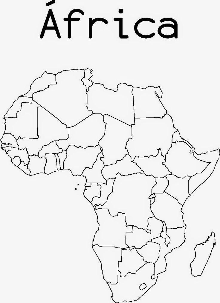 mapa mudo de africa para imprimir | mapa africa | Pinterest | África ...