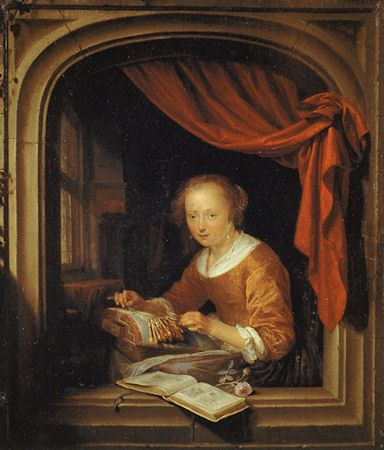 Old Dutch Sayings | Another lacemaker by Pieter Cornelisz van Slingelandt, painted around ...