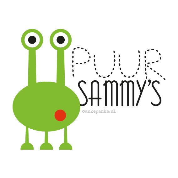Logo design for Puur Sammy's (handmade baby clothing webshop) by http://ankepanke.nl