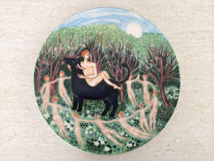 Arabia Finland Horoscope Taurus Wall Art Plate By Dorrit Von Fieandt by Moderndesign20 on Etsy
