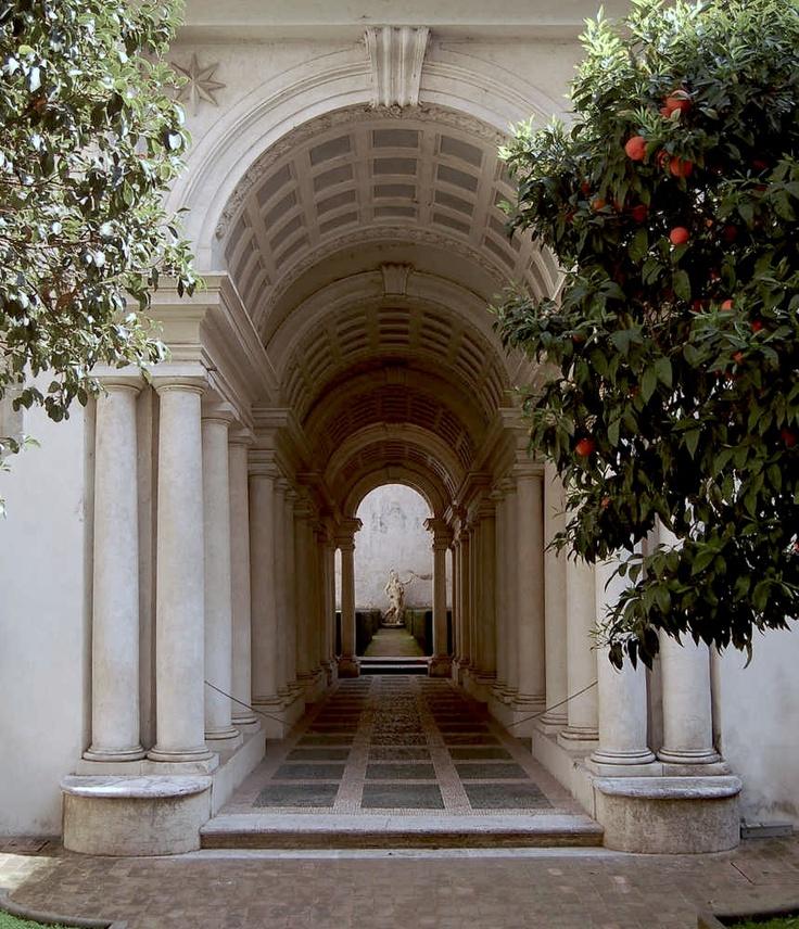 Rome Galeria: Bernardino Spada Affida A Borromini La Famosa GALLERIA DI