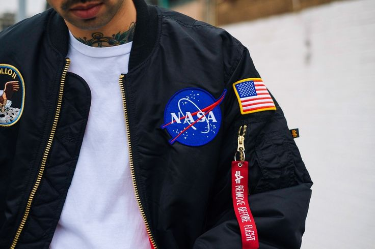 Alpha Industries NASA MA-1 with Apollo badges.   Want!!!