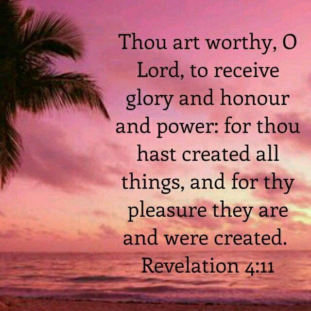 Revelation 4:11 KJV