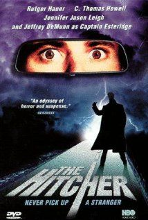 The Hitcher - freaky scary adventure with Rutger Hauer!  I'm not even bothering to watch the remake, it could never be as good without him.