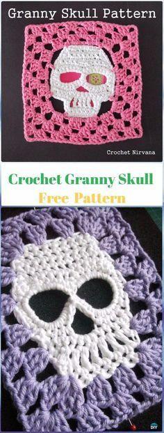 Crochet Halloween Crânio Idéias Grátis Patterns Instruções
