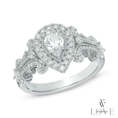 Vera Wang Love Collection 1 Ct T W Pear Shaped Diamond