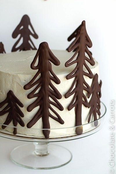 I could so make those chocolate trees! I see a hunting cake in the future ;)