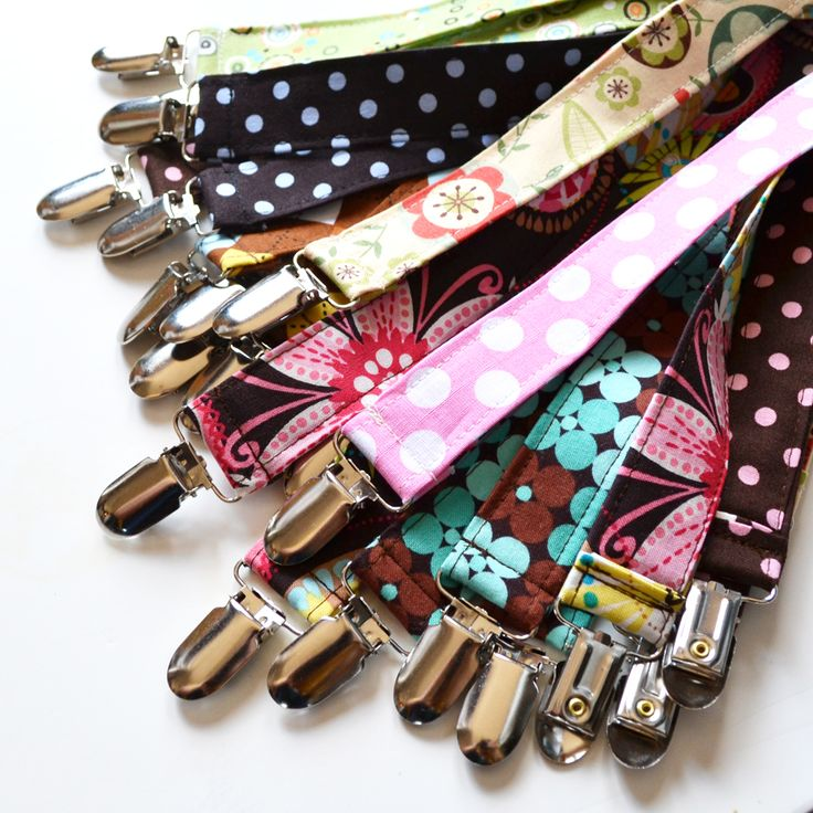 Pacifier Clips  Because no matter what, you will still lose the binky! But, you might as well be a little more prepared.   Make our own just follow The DIY Mommy