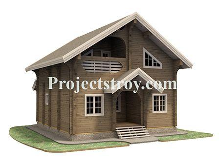 Небольшой дом по пятну застройки с набором всех необходимых помещений для повседневного быта на грядках и небольшого отдыха.  Общая площадь дома - 110.3 кв. м  Технические показатели дома:  Размер профилированного бруса - 190х(h)145 мм. Высота 1-го этажа - 2.9 м. Высота подъема стен 2-го этажа - 1.5 м. Периметр фундамента - 62 м. Площадь кровли - 125 кв. м. Периметр кровли 87 м. Угол кровли 33 гр.  Объем стенового домокомплекта ~ 76 куб. м.