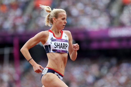 Lynsey Sharp of Great Britain competes in the Women's 800m Round 1