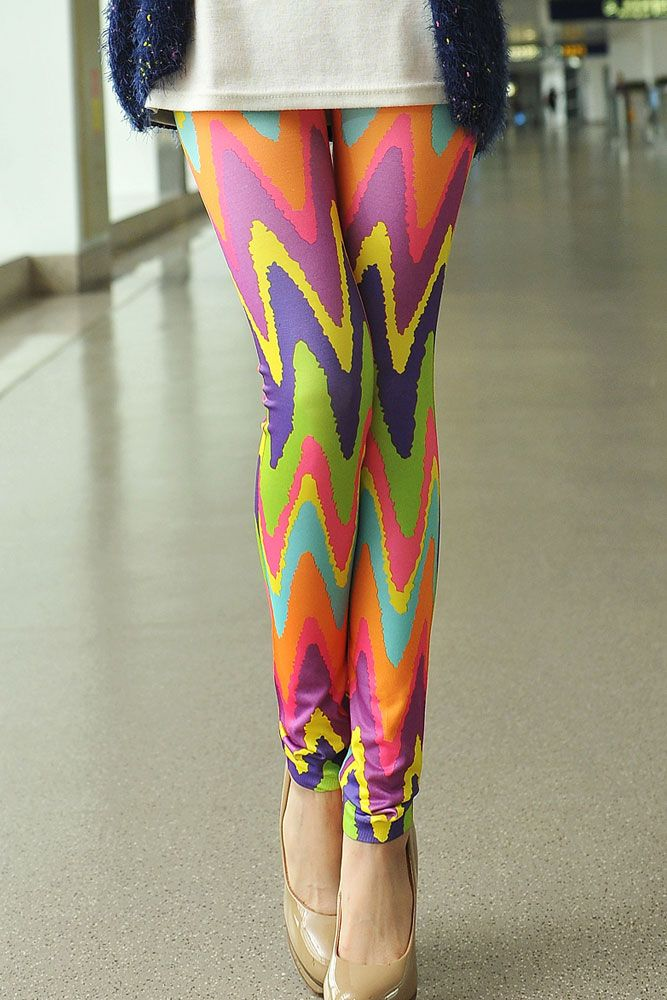 Candy Color Wavy Tie Dye High Quality Leggings