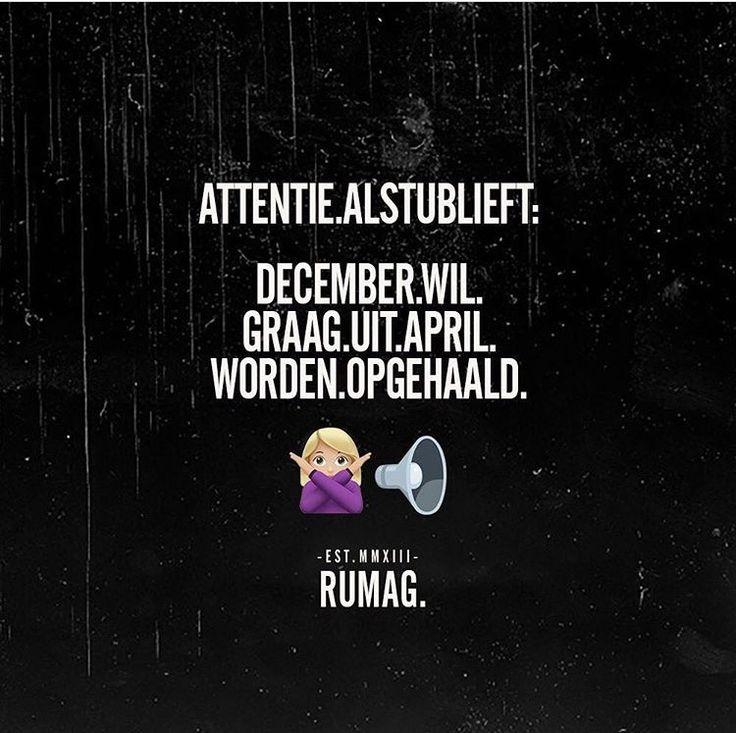 December wil graag uit april worden gehaald
