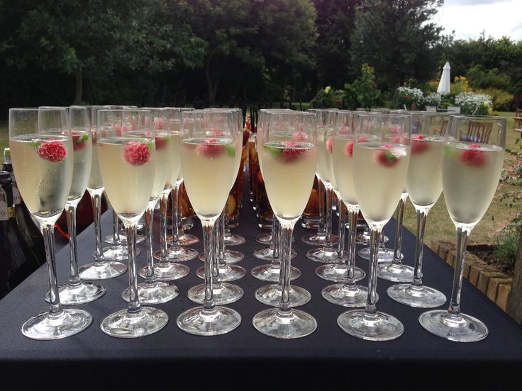 Cellar27 Prosecco with raspberry and mint ice cubes | Amelia's Wedding ...