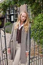 Anna Lascata Catherine 3/4 Tweed Coat
