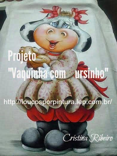 """Loucos por pintura : Projeto """"Vaquinha com Ursinho"""""""