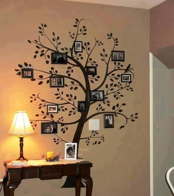 Qué linda idea para colgar las fotos familiares #DIY #Decoracióndelhogar #EnteratéEntreMujeres