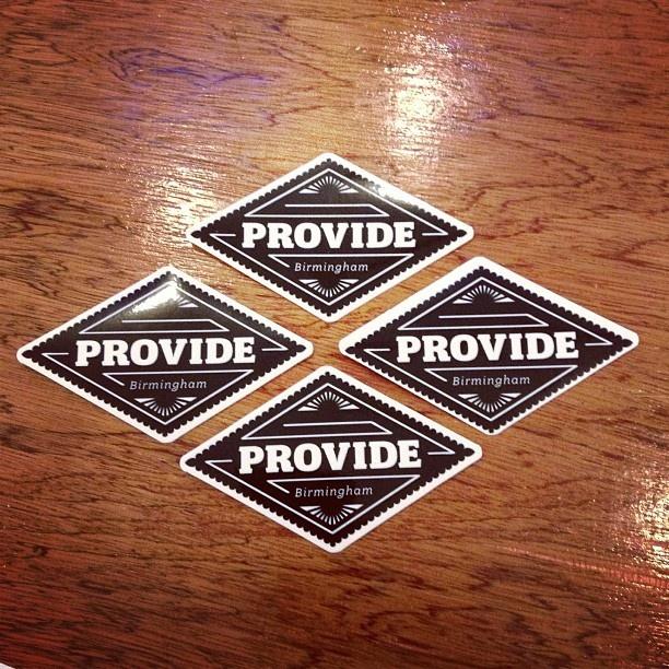 PROVIDE - Diamond Sticker £0.50