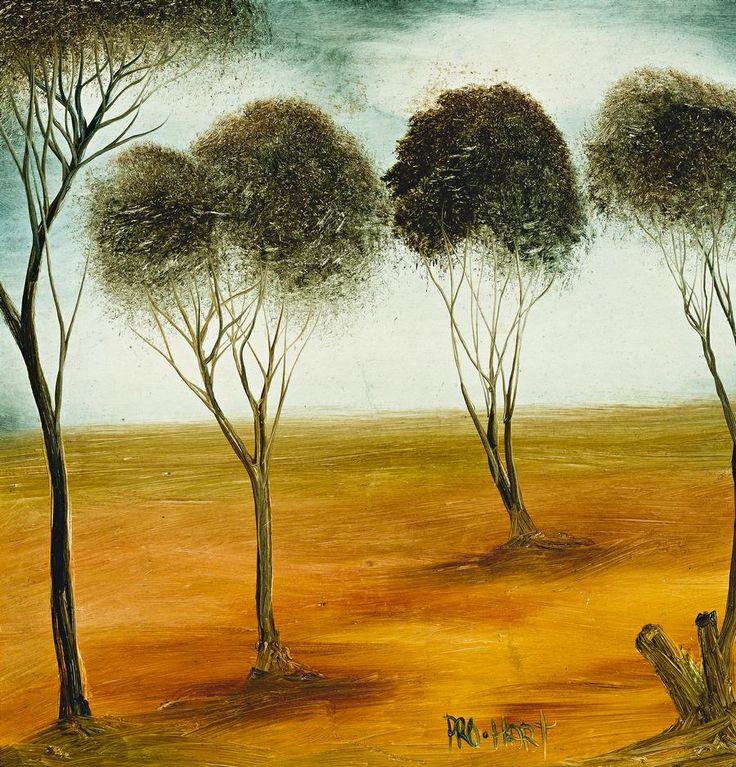 Trees in Landscape by Pro Hart