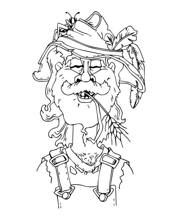 Swedish tomte coloring pages coloring pages for Tomte coloring page
